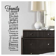 RoomMates <b>Family Quote</b> Peel And Stick <b>Wall Decals</b> : Target