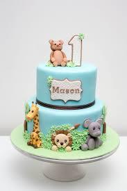 Jungle Birthday Cake Cakes In 2019 Baby Birthday Cakes Jungle