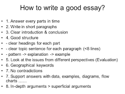how to write a good geography essay ppt  how to write a good essay
