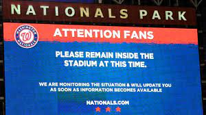 Washington Nationals' game suspended as ...