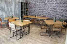 industrial cafe furniture. industrial style restaurant tables cafe furniture n