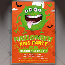 halloween template flyer halloween kids party seasonal flyer psd template psdmarket