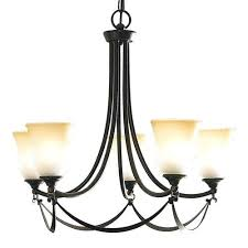 5 light d dark oil rubbed bronze chandelier allen roth latchbury