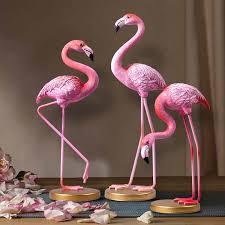 Garden & Patio 2pcs <b>Creative Resin Flamingo</b> Ornaments <b>Home</b> ...