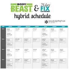 Body Beast And 21 Day Fix Extreme Hybrid 21 Day Fix Extreme Body
