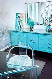 turquoise lacquer cabinet art deco office credenza