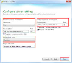 Set Up Email Account in Windows Live