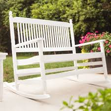 $229 Cracker Barrel 4 White Double Rocking Chair RTA Chairs
