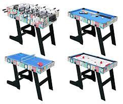 4 in 1 Folding Multi Sports Game Table Combo Table- Pool Table/ Air Hockey /Mini Tennis Football With Legs: Amazon.co.uk: \u0026