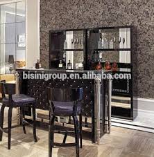 italian bar furniture. Luxury Italian Designed High Gloss Royal Black Diamond Tufted Bar Counter With Silver Posters And Elegant Furniture