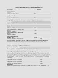 employer emergency contact form template daycarency contact form template for nanny babysitter or
