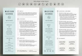 Resume Template Pages 12 Get Refined And Get Noticed With This Three Page  Design Including Handcrafted