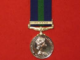 Gsm Navy General Service Pre 1962 Full Size Medal Ribbon Raf