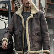 charmkpr mens biker jacket big pocket thick warm winter shearling faux leather coats cod