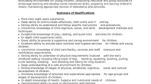 Interesting Resume Skills Babysitting Sample Babysitting Resume