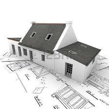architecture blueprints 3d. 3D Rendering Of A House On Top Architecture Blueprints Stock Photo - 2464799 3d