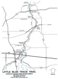 Jackson county little blue trace trail map