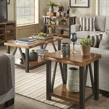 Banyan Live Edge Wood and Metal Accent Tables by iNSPIRE Q Artisan - Free  Shipping Today - Overstock.com - 20422549