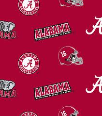 Licensed NCAA Fleece- Alabama All Over Print | JOANN
