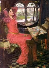 enjoying  quot the lady of shalott quot  by alfred tennysonthe lady of shalott  john william waterhouse  i am half sick of shadows