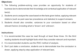 Maybe you would like to learn more about one of these? Law Case Problem Solving Irac Method Zoe Marie Beesley