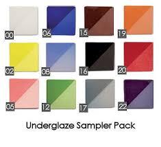 Speedball Underglaze Chart Underglaze Sampler Pack