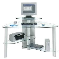 corner glass computer desk alluring glass computer desk corner easy build glass corner desk desks design