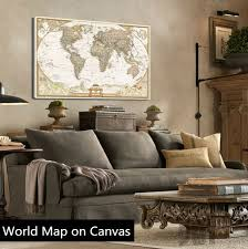 modern wall art vintage english world map painting on canvas canvas prints painting pictures decor for living room t 720 in painting calligraphy from home  on vintage wall art canvas with modern wall art vintage english world map painting on canvas canvas