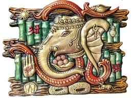 Small Picture Buy Vastu Ganesha Metalic Gold Wall Mural Online Craftsvilla