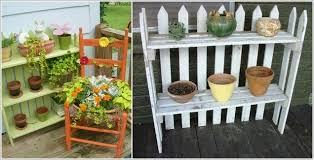 make a planter shelf with a recycled picket fence