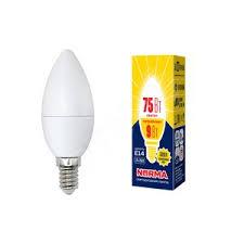 <b>Лампа</b> светодиодная <b>LED</b>-<b>C37</b>-<b>9W</b>/WW/<b>E14</b>/<b>FR</b>/<b>NR</b> Форма свеча ...