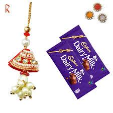 special bhabhi rakhi with chocolate