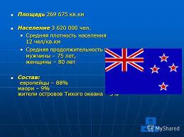 Презентация на тему Новая Зеландия Курсовая работа Учителя  3 Площадь