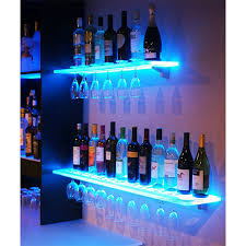 wall mounted acrylic led light shelf