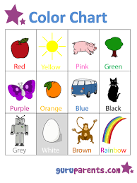 Preschool Color Chart Guruparents