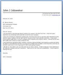 Landscape Cover Letter Sample Resume Downloads Examples For