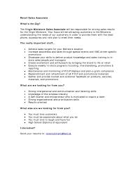 Retail Sales Resume Skills Tomyumtumweb Com