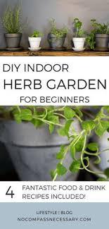 diy indoor herb garden for beginners herbs gardening cooking food