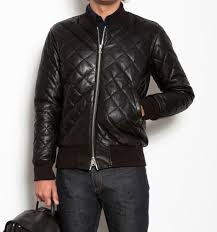 193 best Leather Jackets images on Pinterest | Leather jackets ... & Roots Canada Quilted Leather Bomber Jacket Adamdwight.com