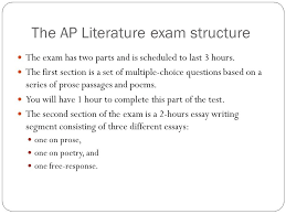 ap exam preparations and strategies ppt the ap literature exam structure