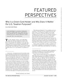 Who Is a Green Card Holder and Why Does It Matter For U.S. Taxation  Purposes? ...