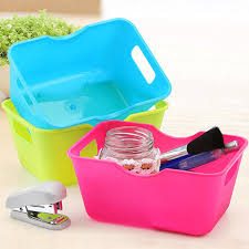 cute home kitchen storage box desktop laundry baby toy organizers case mini portable creative storage basket cheap office storage