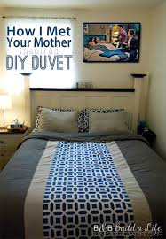 pinworthy how i met your mother inspired diy duvet bandbbuildalife com