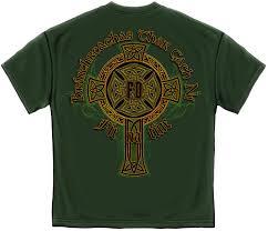 Mens Shirts With Cross Designs Details About Irish Firefighter T Shirt Gold Cross Ireland