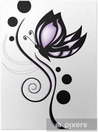 Plakát Barevný Motýl Tetování