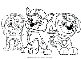 Paw Patrol Coloring Pages Chase Super Skye And Everest To Print Best