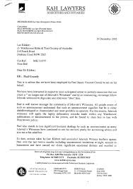 Legal Correspondence Sample Formal Letter Lawyer Financial Statement