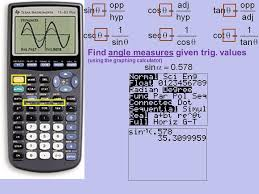 8 find angle measures given trig values using the graphing calculator