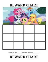 How To Use A Reward Chart My Little Pony Reward Charts
