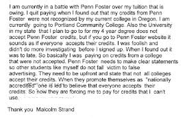 penn foster college must pay more than after pcc refused  strand s brief consumer complaint filed the oregon justice department in 2013 accused penn foster of false advertising as a result of his complaint